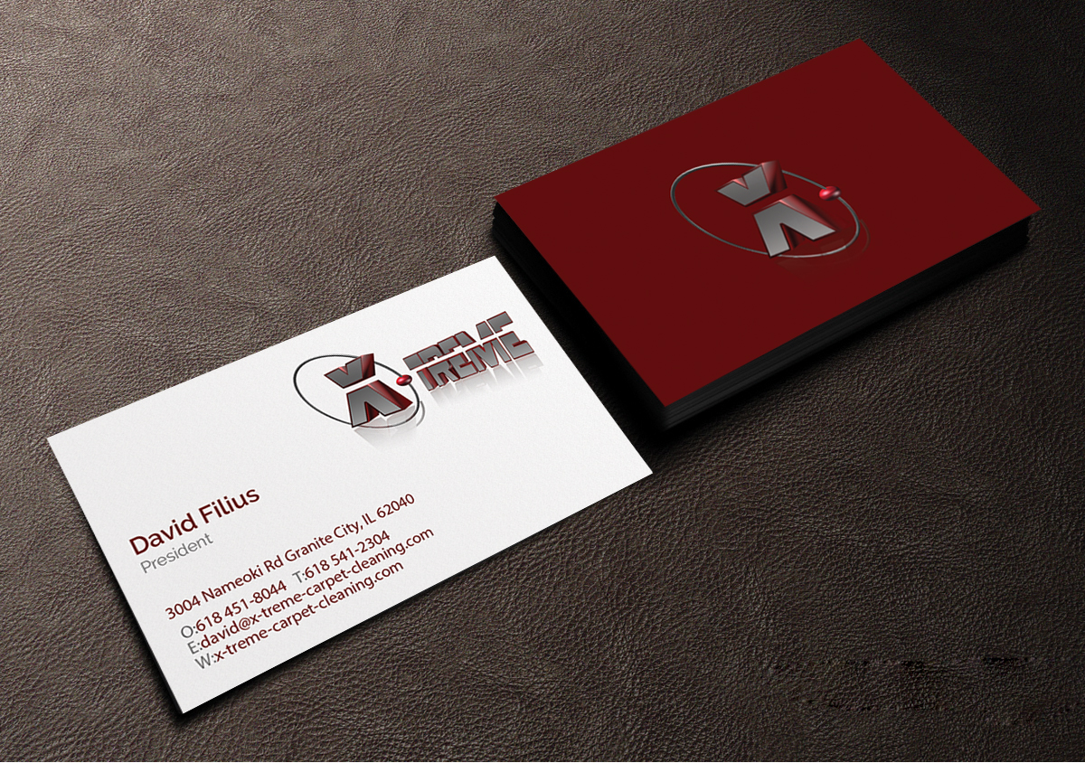 Business card design for david filius by creations box 2015 business card design by creations box 2015 for carpet cleaning business sesighn design 6575993 baanklon Gallery