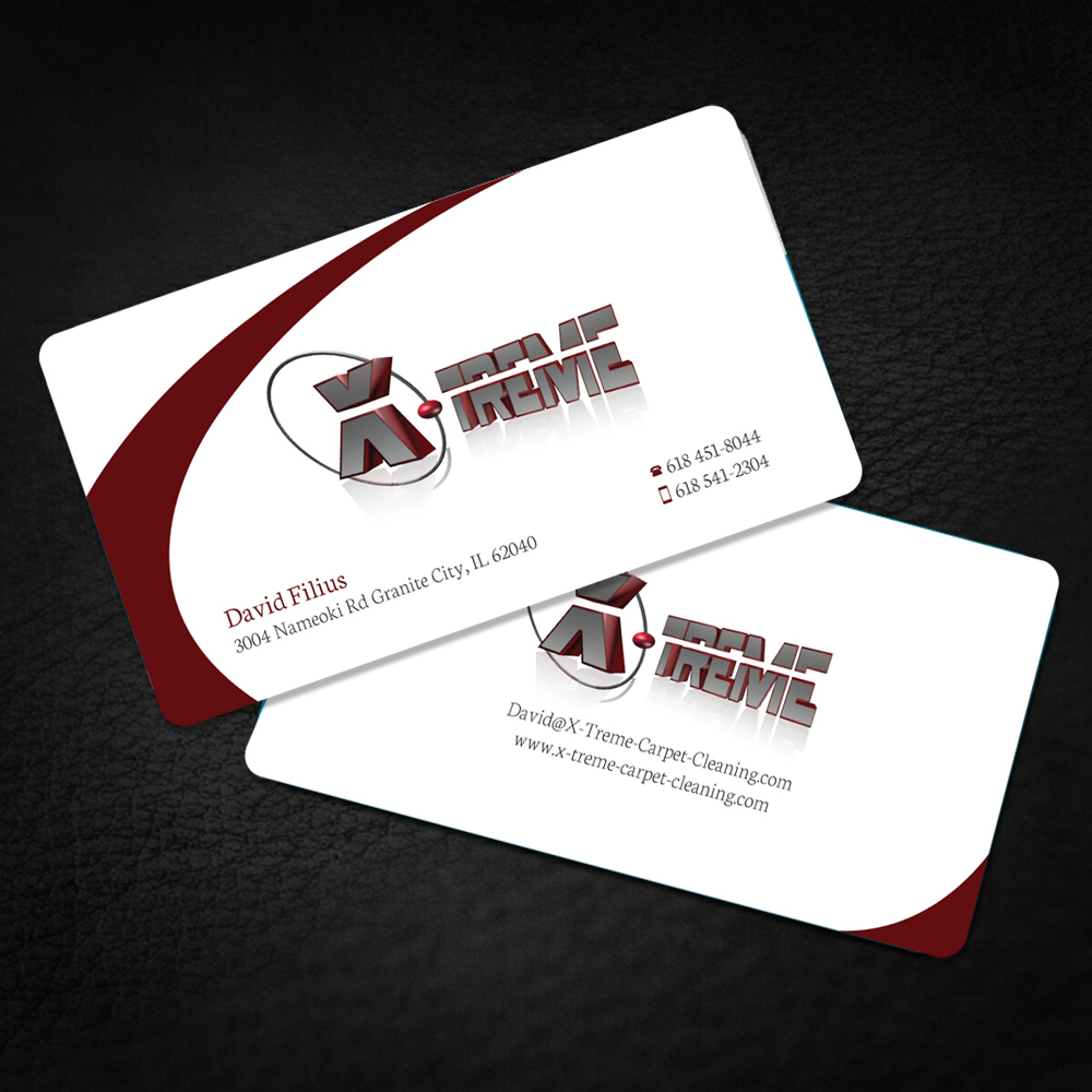 Business card design for david filius by shradha design 6564086 business card design by shradha for carpet cleaning business sesighn design 6564086 baanklon Gallery