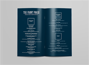 Menu Design by True.Type - The Front Porch Piano Bar & Restaurant MENU RE- ...