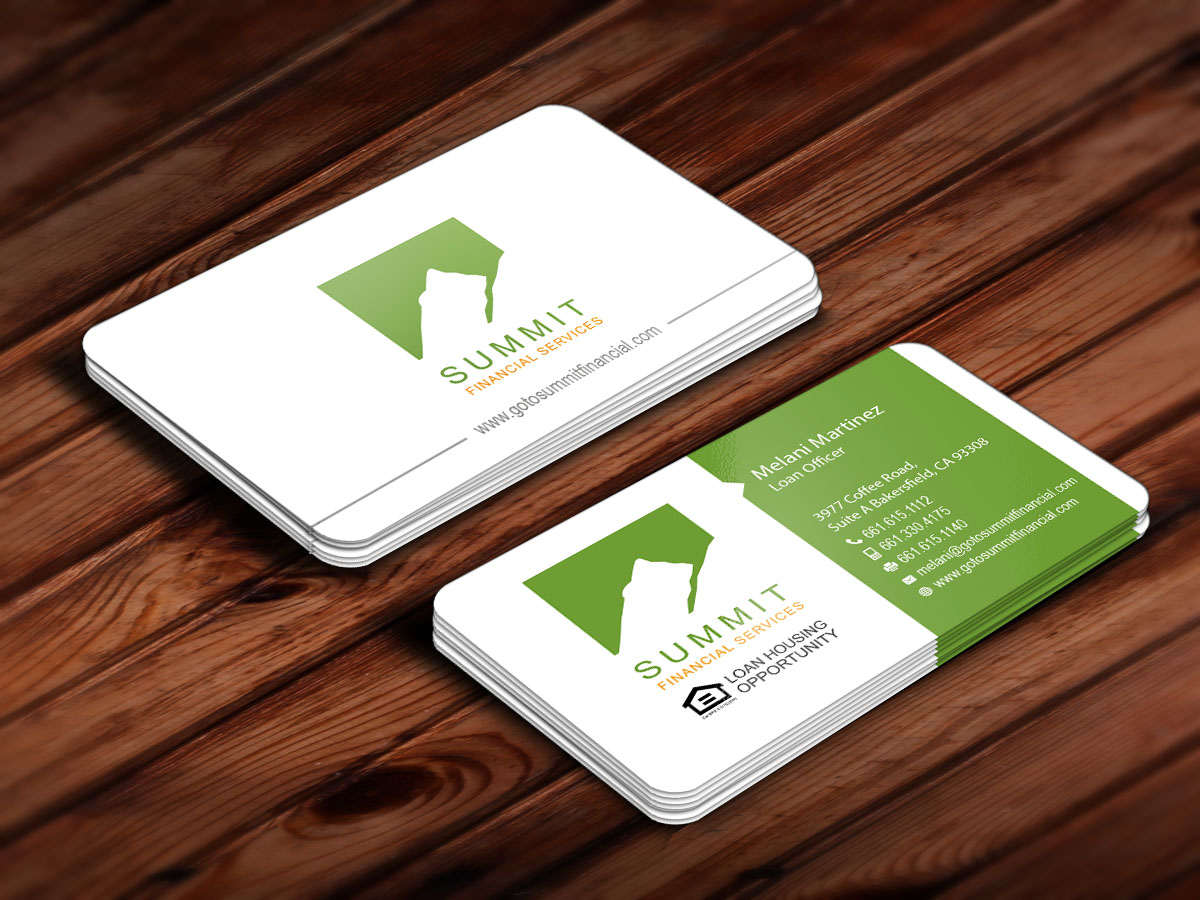 Masculine playful loan business card design for a company by business card design by snowymasterdesigns for this project design 6598078 reheart Images
