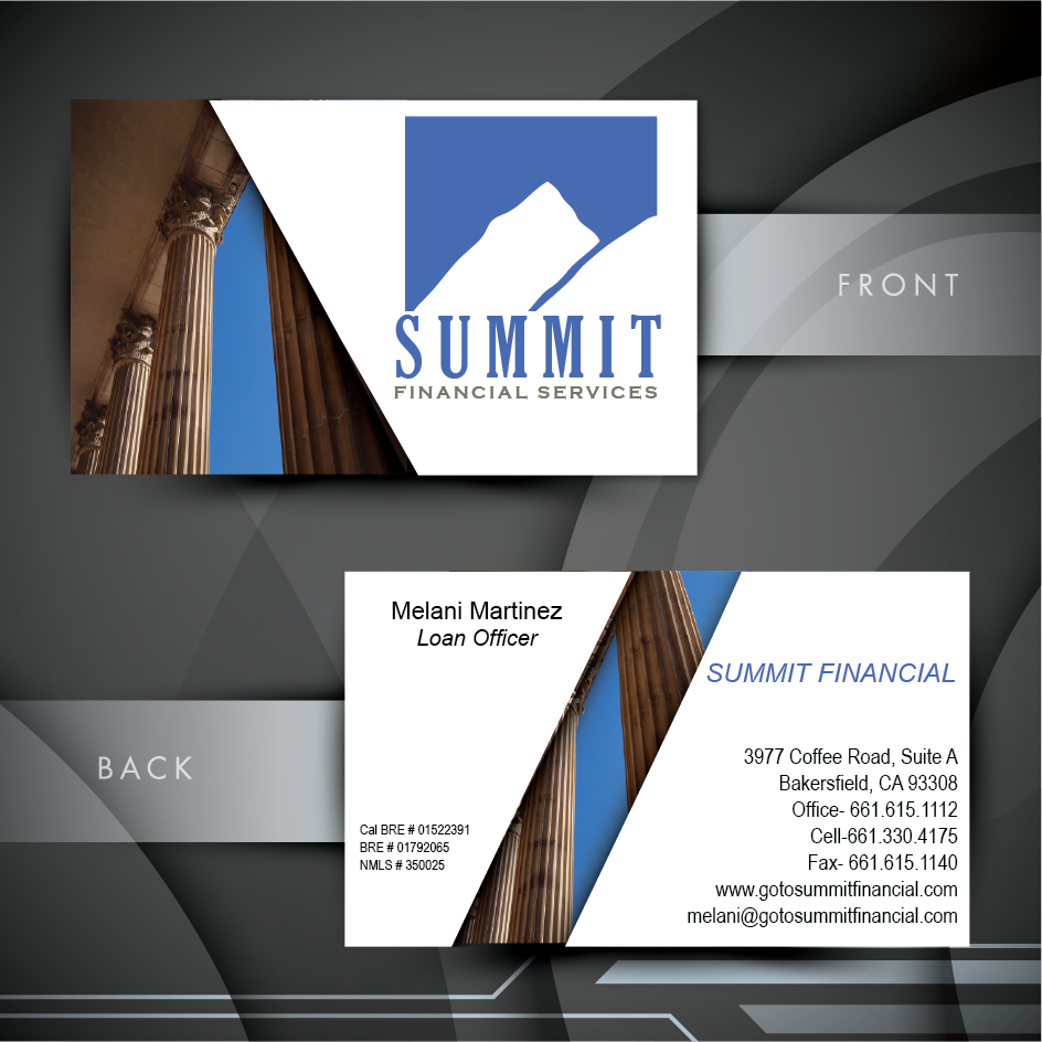 Masculine playful loan business card design for a company by blue business card design by blue rock graphics for this project design 6587737 reheart Images