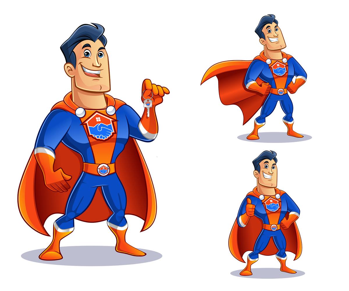 Character Design Jobs Australia : Bold mascot designs real estate agent design