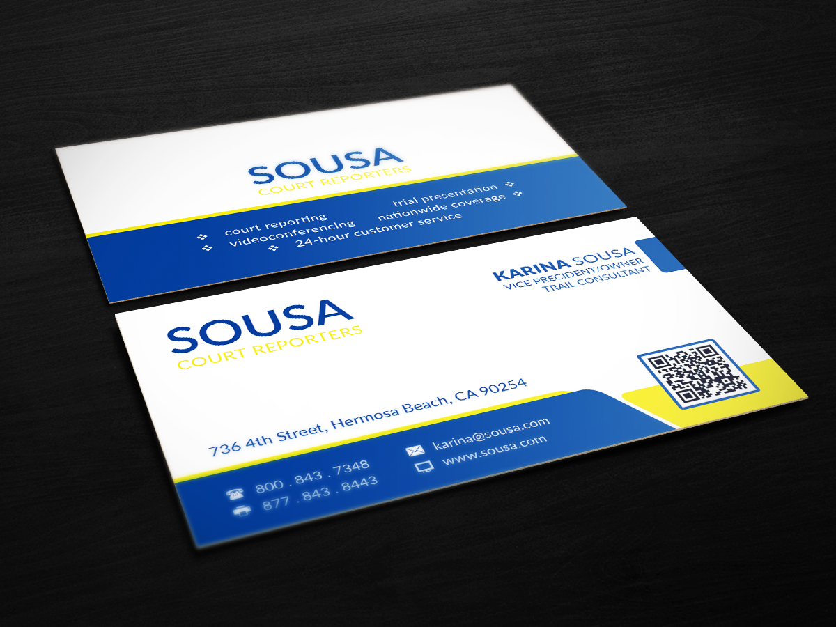 Professional, Conservative, Legal Business Card Design for a Company ...
