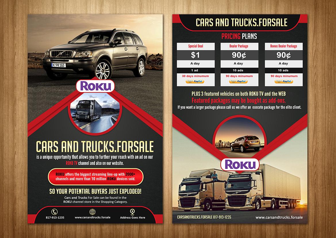 automobile brochure design - masculine bold marketing brochure design for a company
