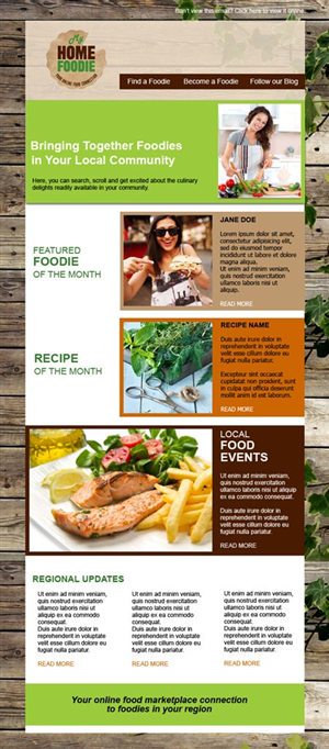 Newsletter Design by wanagaran - My Home Foodie Newsletter - a update of what is ...