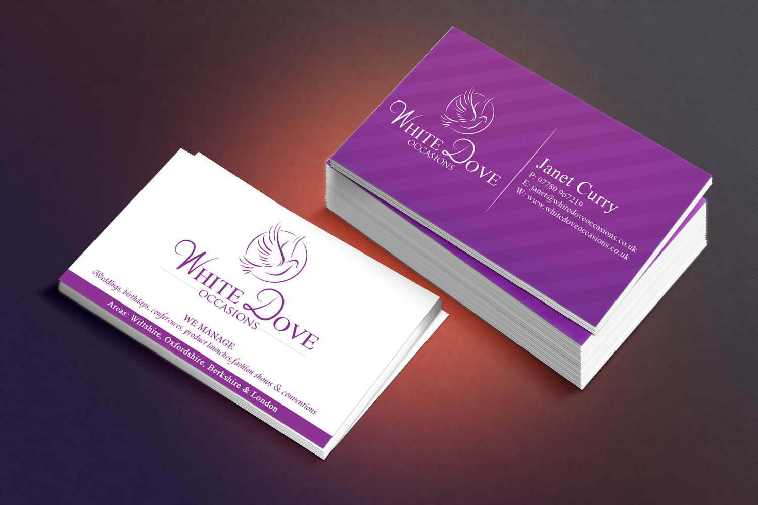 Elegant, Upmarket, Wedding Business Card Design for Johnson ...