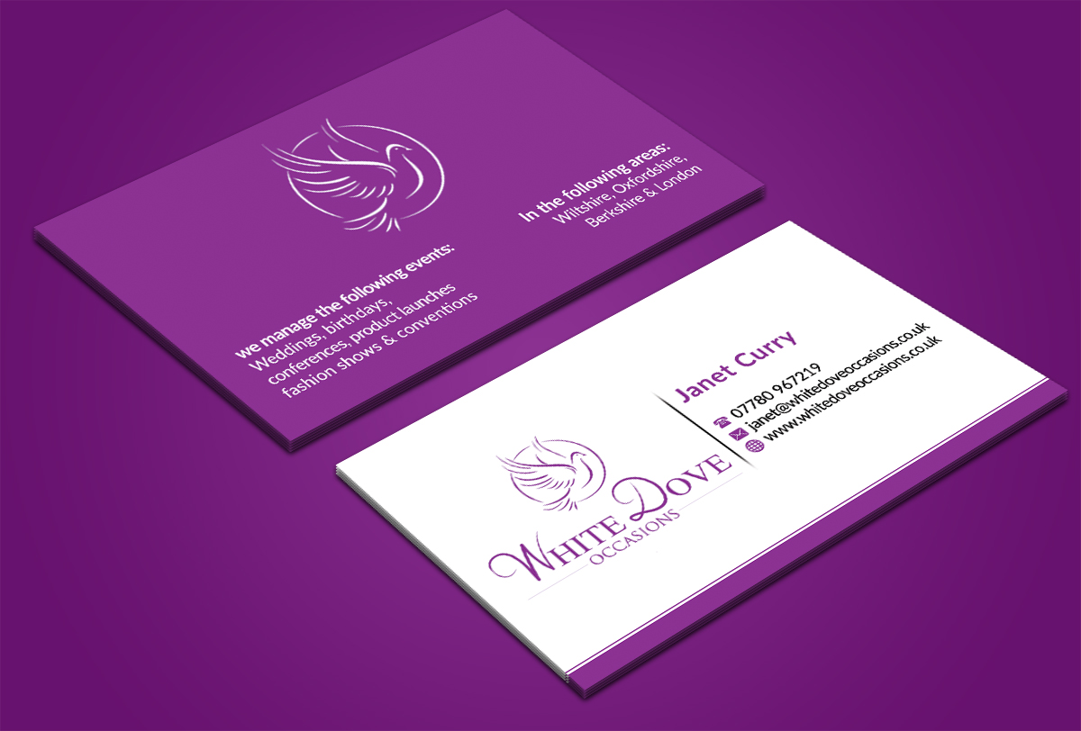 Elegant upmarket business card design for johnson gardening business card design by nuhanenterprise for business card for wedding event planning company design magicingreecefo Gallery