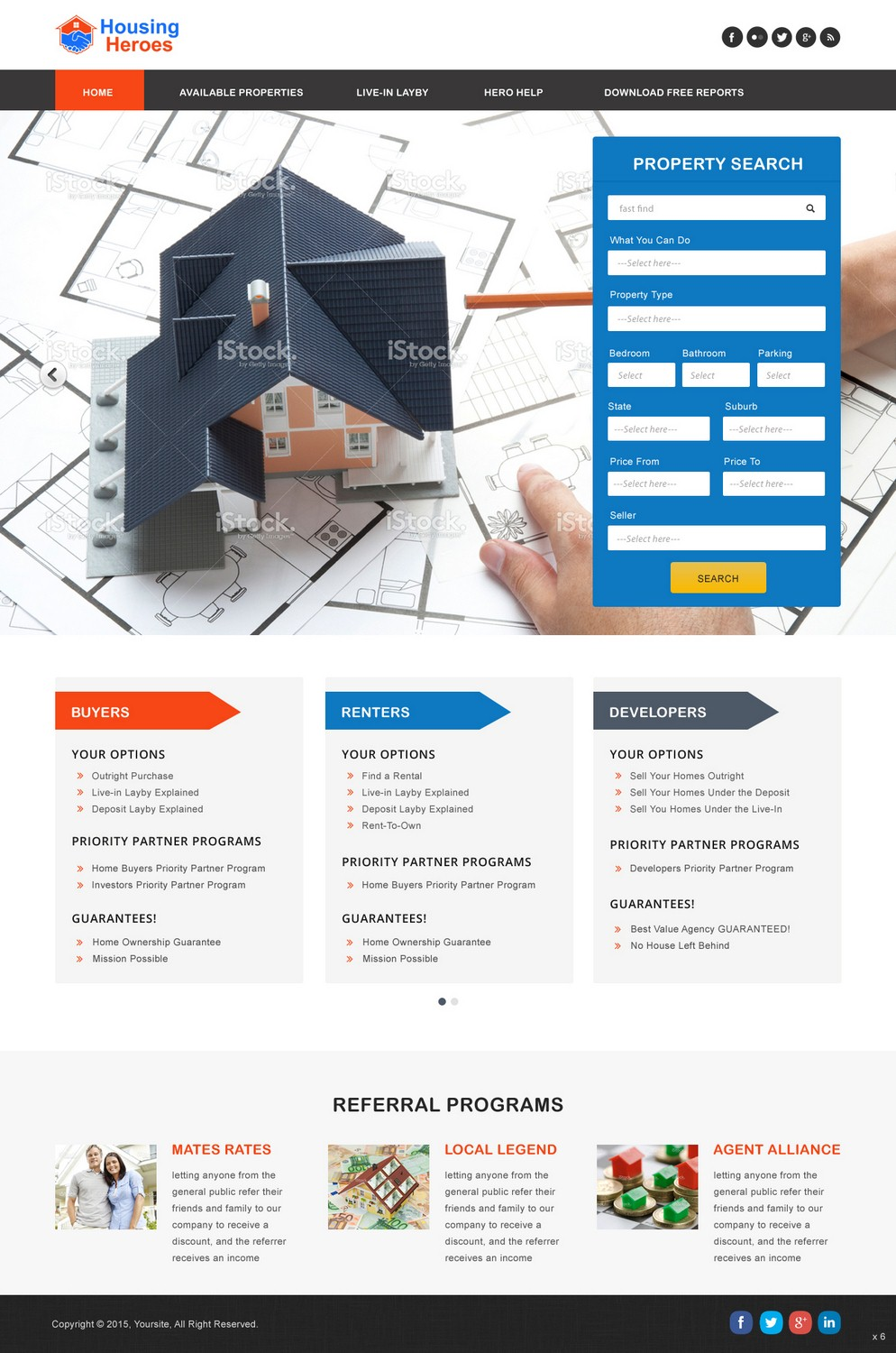 Modern Playful Real Estate Web Design For A Company By Pb Design 6642118