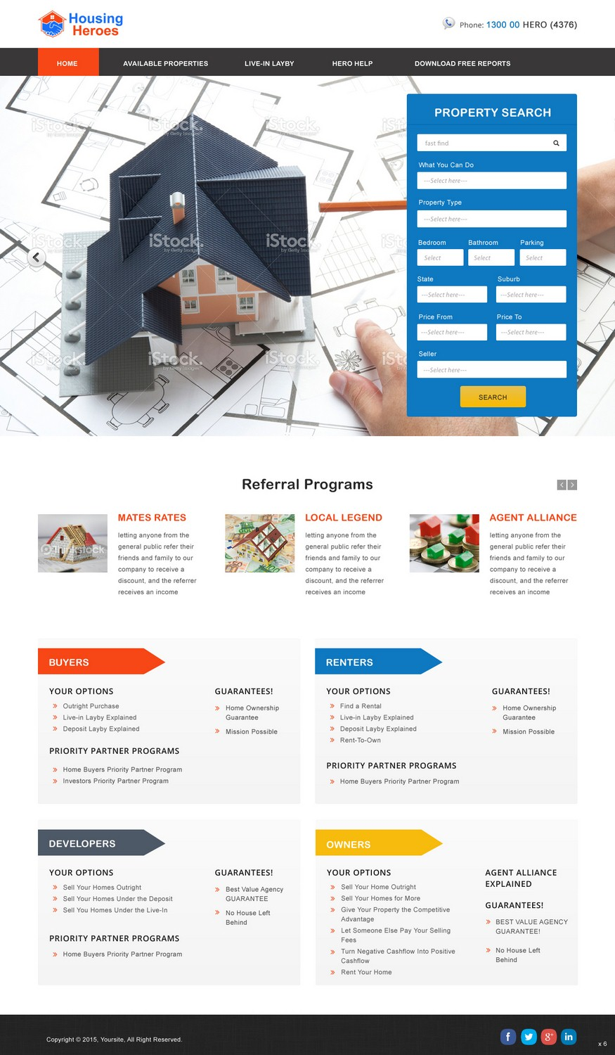 Modern Playful Real Estate Web Design For A Company By Pb Design 6708757