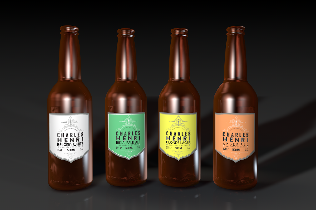 Elegant Serious Label Design For Blue Spike Beverages By Cornel888