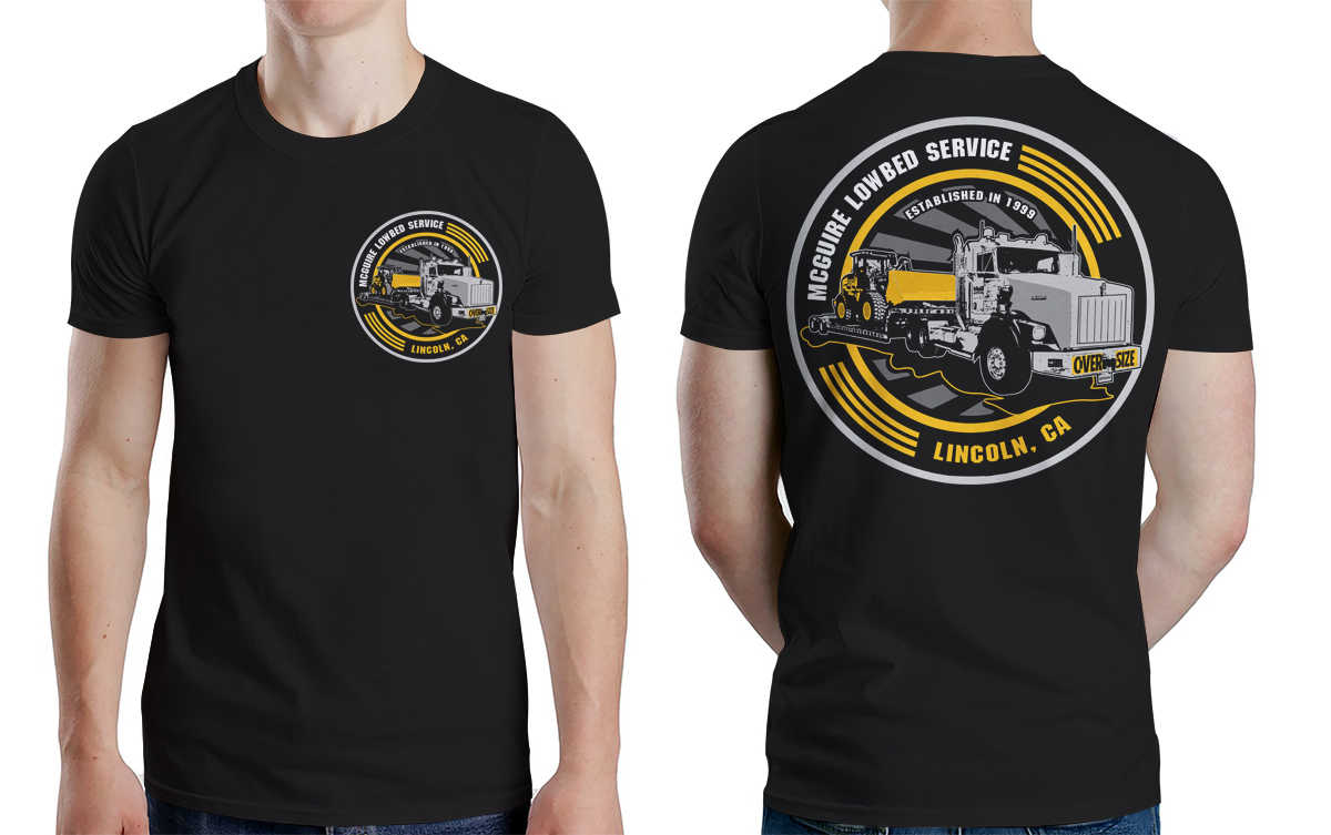 Masculine colorful trucking company t shirt design for a for T shirt for company
