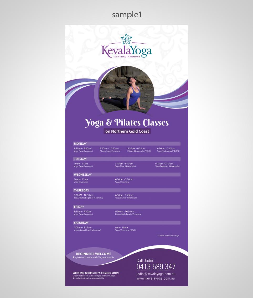 Bold Masculine Health And Wellness Brochure Design For KEVALA YOGA In Australia