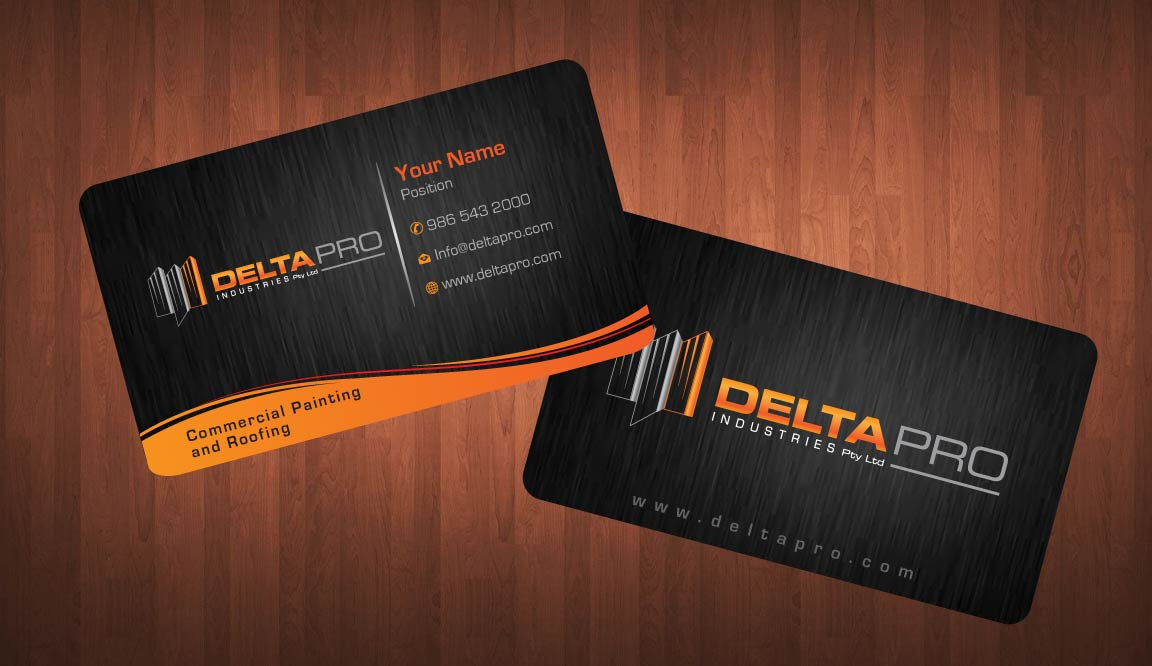 Elegant, Serious Business Card Design for Delta Pro Industries Pty ...