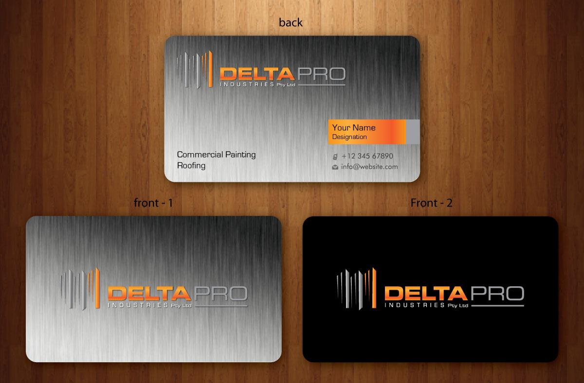 Elegant, Serious, Construction Business Card Design for Delta Pro ...