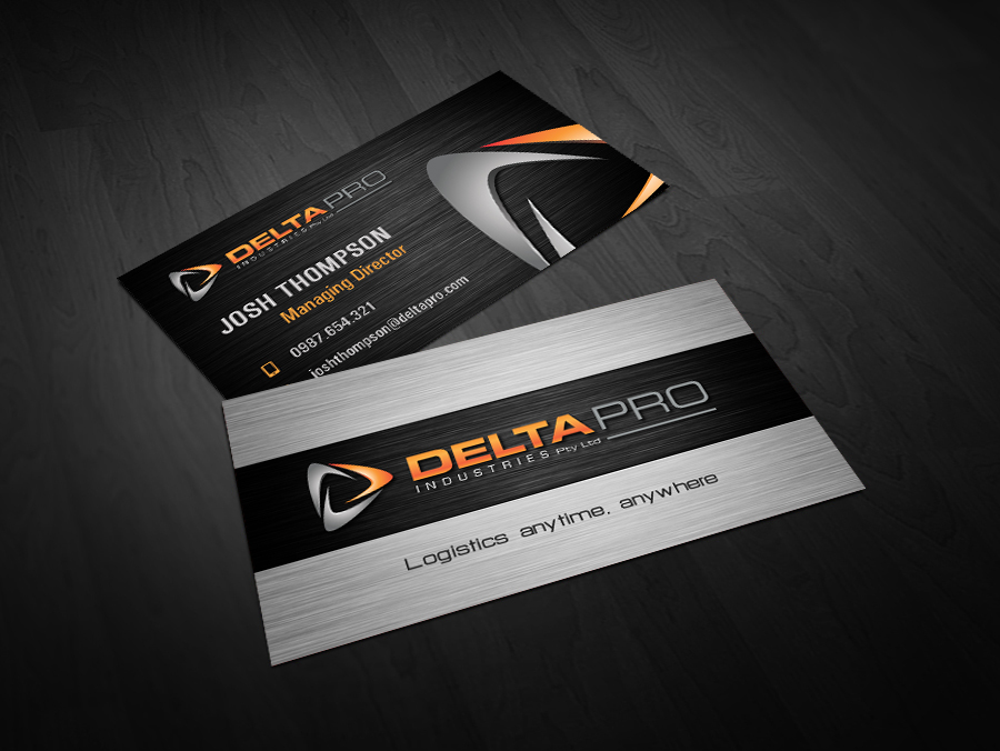 Serious, Modern, Steel Business Card Design for Delta Pro Industries ...