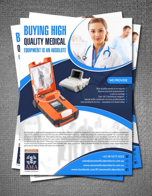 Bold Professional Medical Equipment Flyer Design For AMA Medical