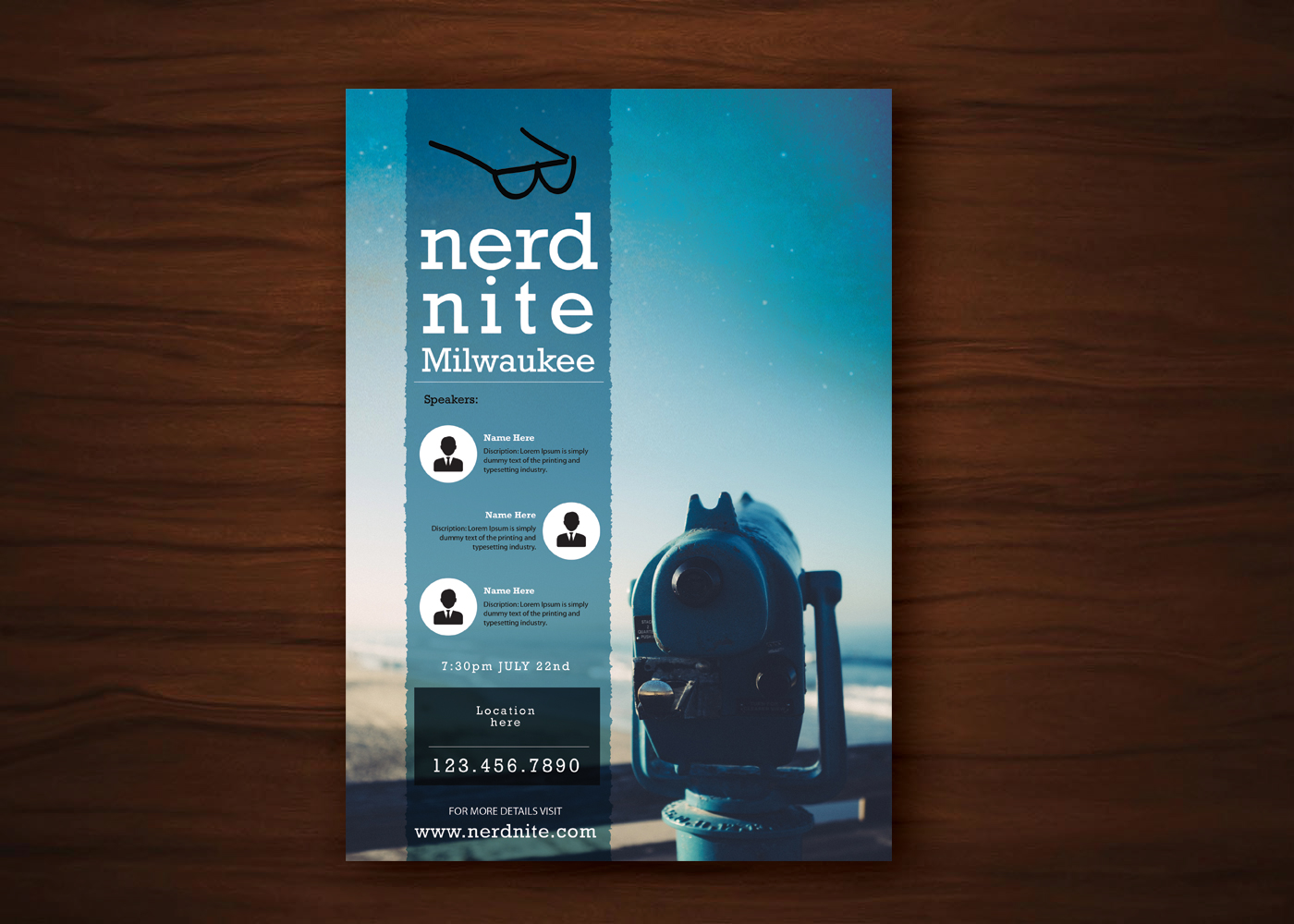 Poster design uk - Poster Design By Uk For Nerd Nite Milwaukee Monthly Event Poster Template Help Make Nerds