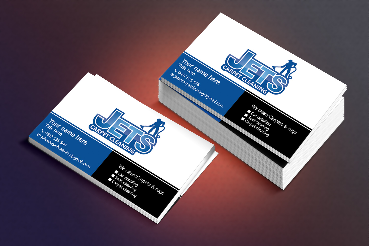 38 elegant playful business card designs for a business in australia business card design design 6668704 submitted to carpet cleaning car detailing baanklon Gallery