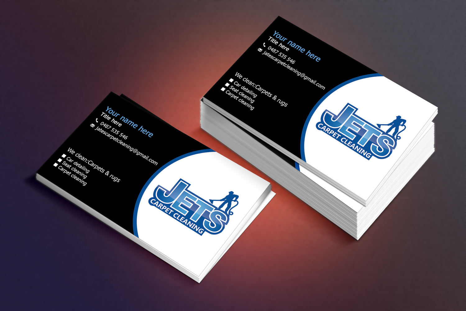 Carpet cleaning business card ideas carpet vidalondon business card design design 6668768 submitted to carpet cleaning car deling baanklon Gallery