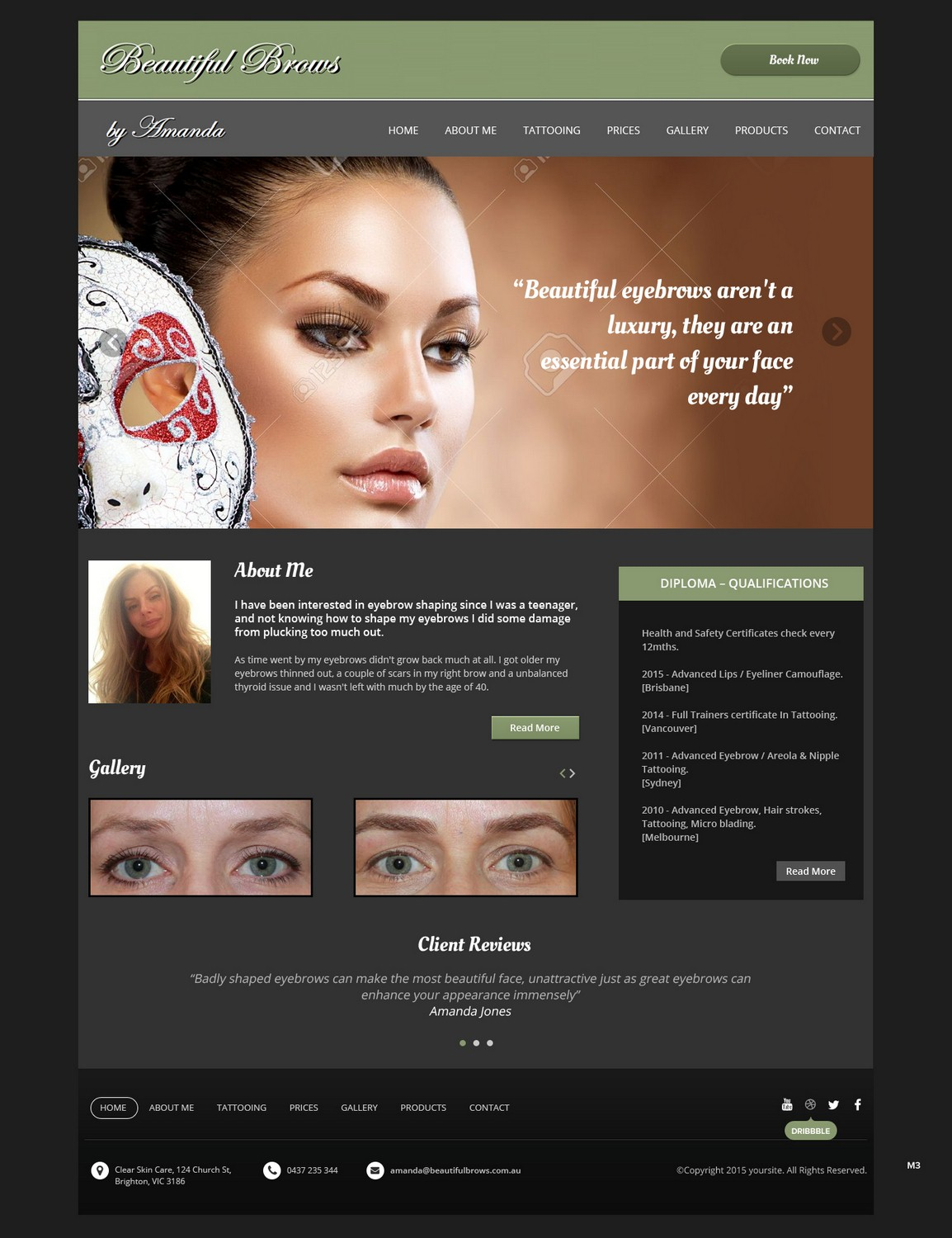 Elegant Professional Cosmetic Web Design For A Company By Pb Design 6641888