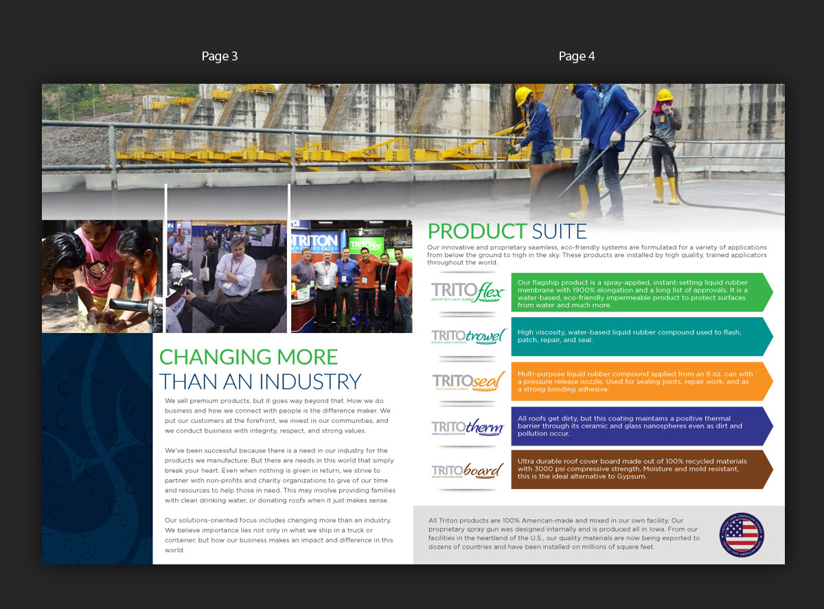 Bold, Serious, Roofing Brochure Design for Triton