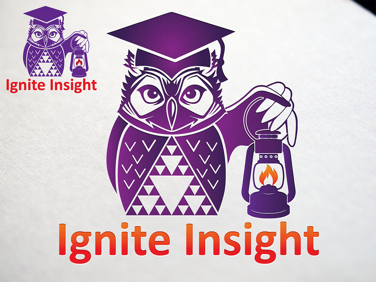 Owl Ignite Insight logo design by RoobyDesigns