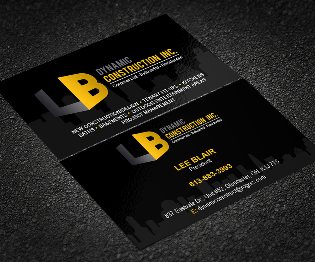 43 serious business card designs construction business card design business card design by sanrell for lb dynamic construction inc design reheart Choice Image