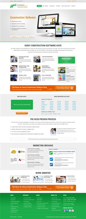 Masculine professional web design for hcss by awesomelw for Masculine web design