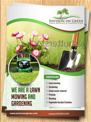 42 Upmarket Bold Gardener Flyer Designs for a Gardener business in ...