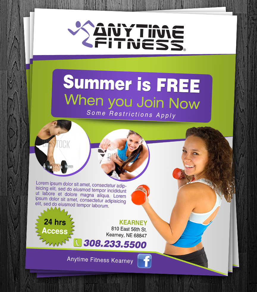 Elegant Playful Health Poster Design For A Company By: Elegant, Playful Flyer Design For Anytime Fitness By ESolz