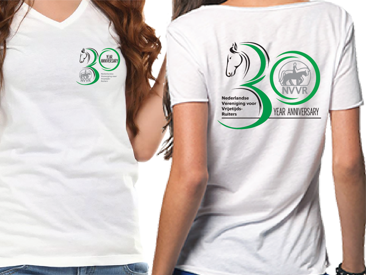 Design a t shirt horse - T Shirt Design By Sinaglahi For Adapt Current Logo For 30 Year Anniversary Horse Riding