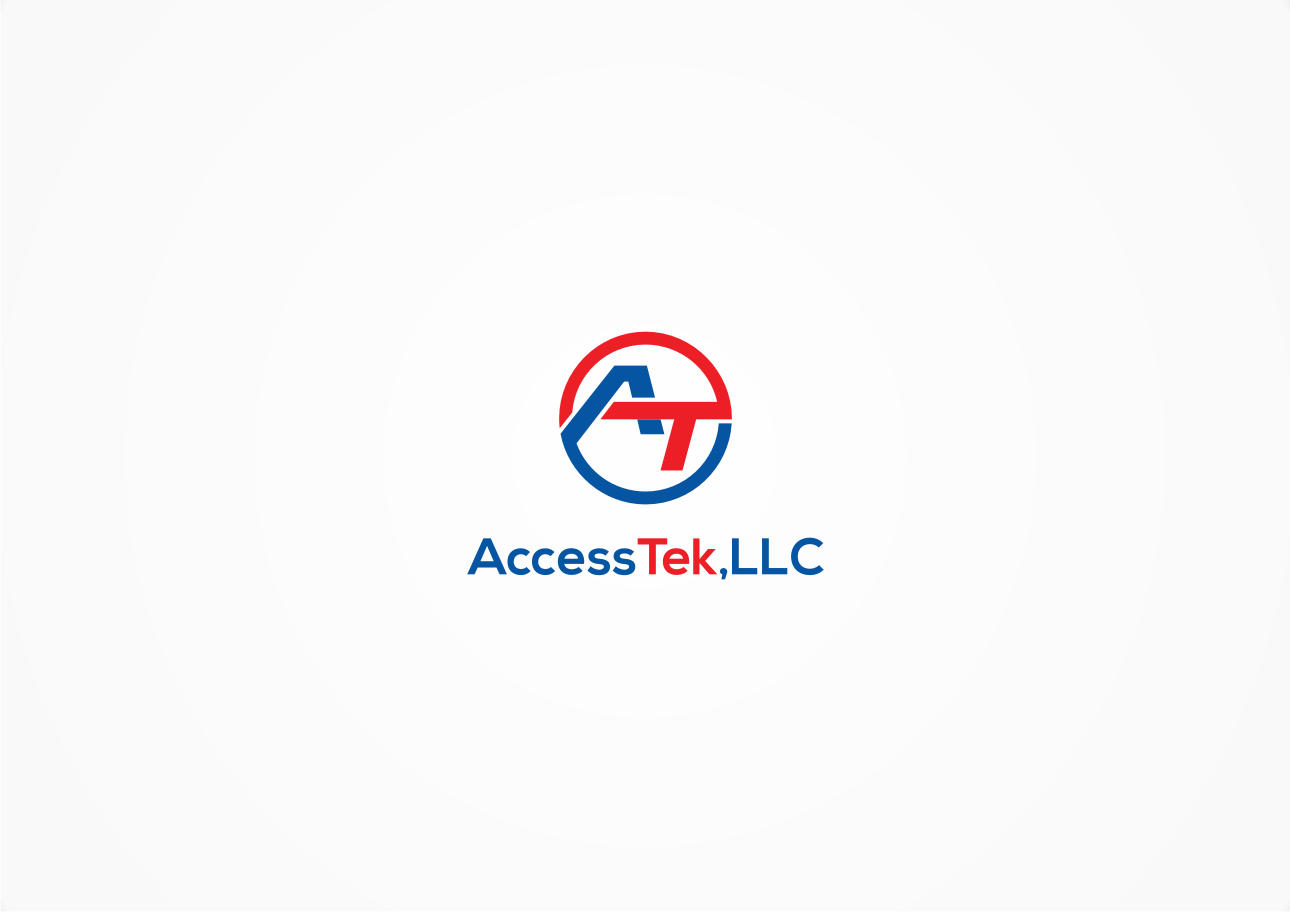 serious modern business logo design for accesstek llc