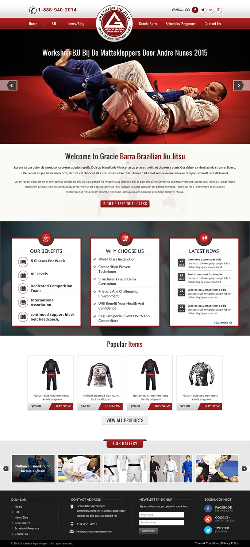 Modern masculine commercial web design for a company by for Masculine web design