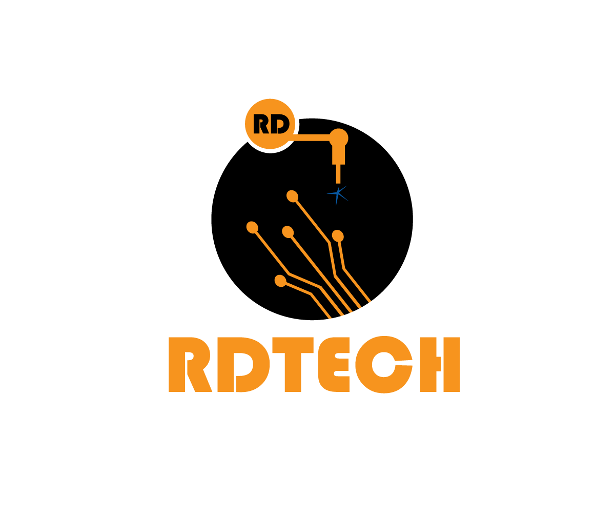 electrical dise241o de logo for rdtech or rd por sonia