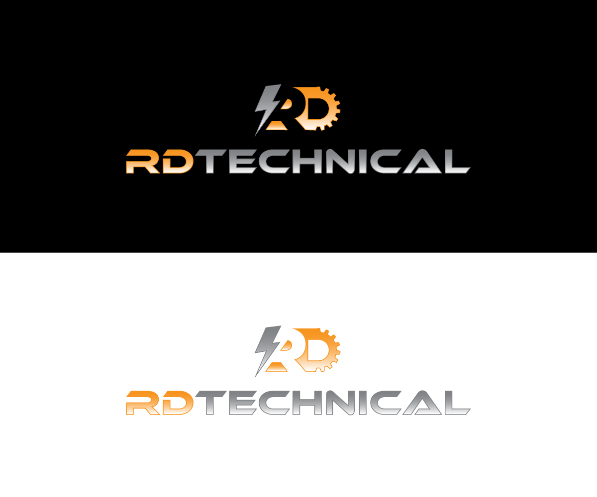 electrical dise241o de logo for rdtech or rd by