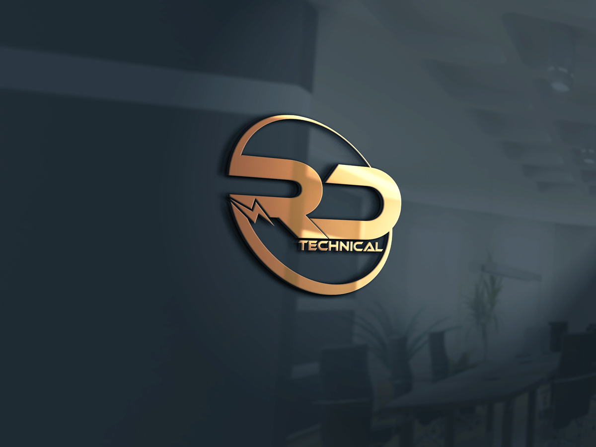 electrical logo design for rdtech or rd by yoossefmaroc