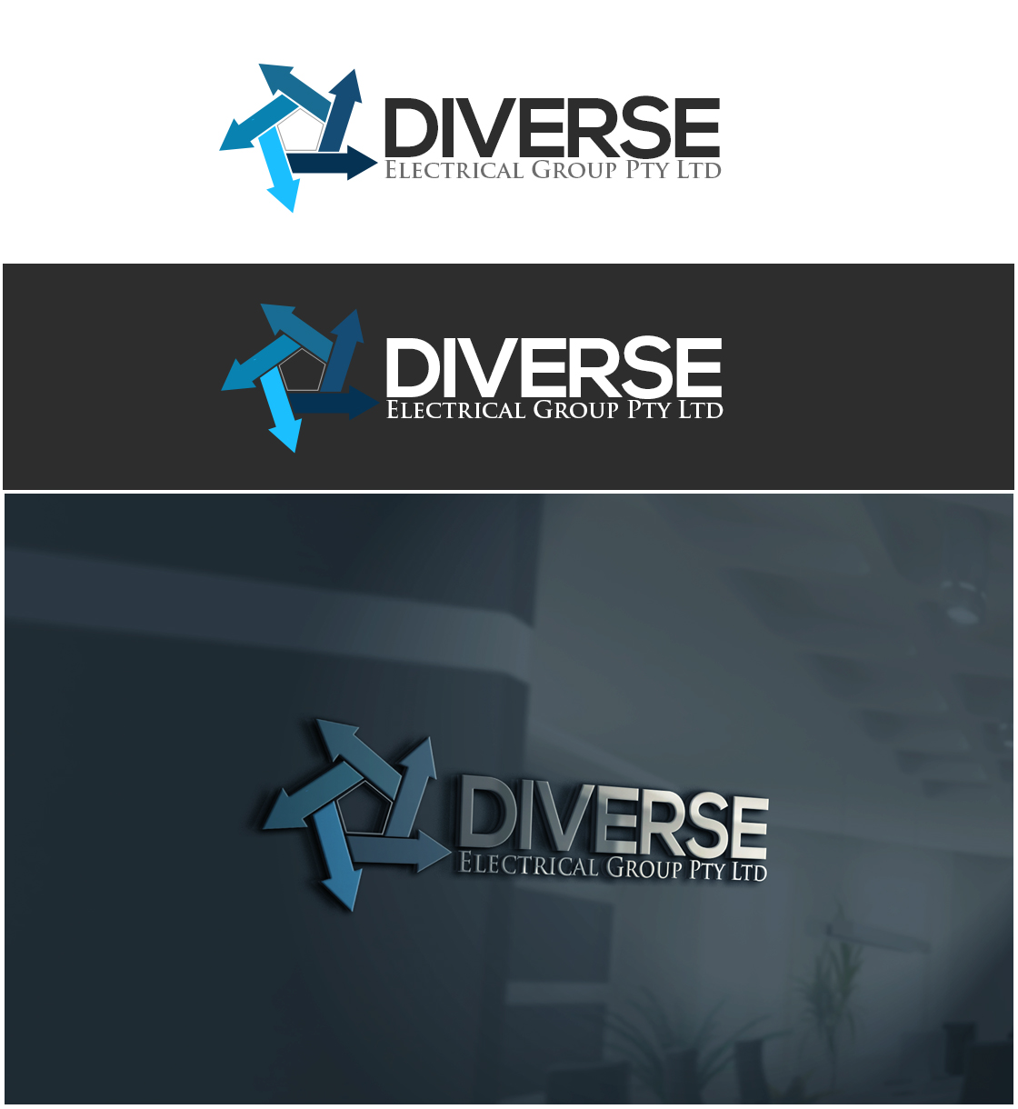 Ernst m nnlich electrical logo design for diverse for Outer space design group pty ltd