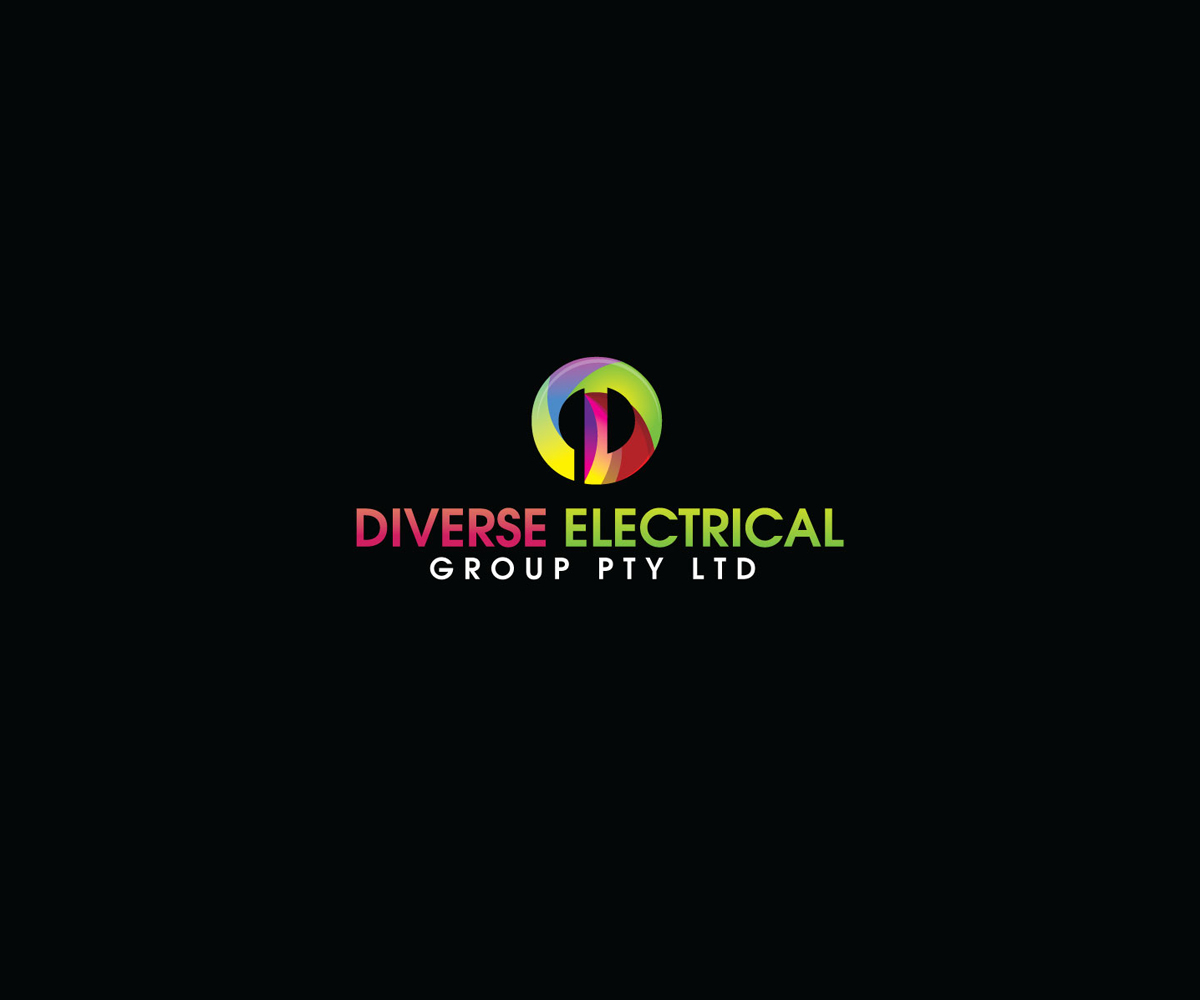 96 serious masculine electrical logo designs for diverse for Outer space design group pty ltd