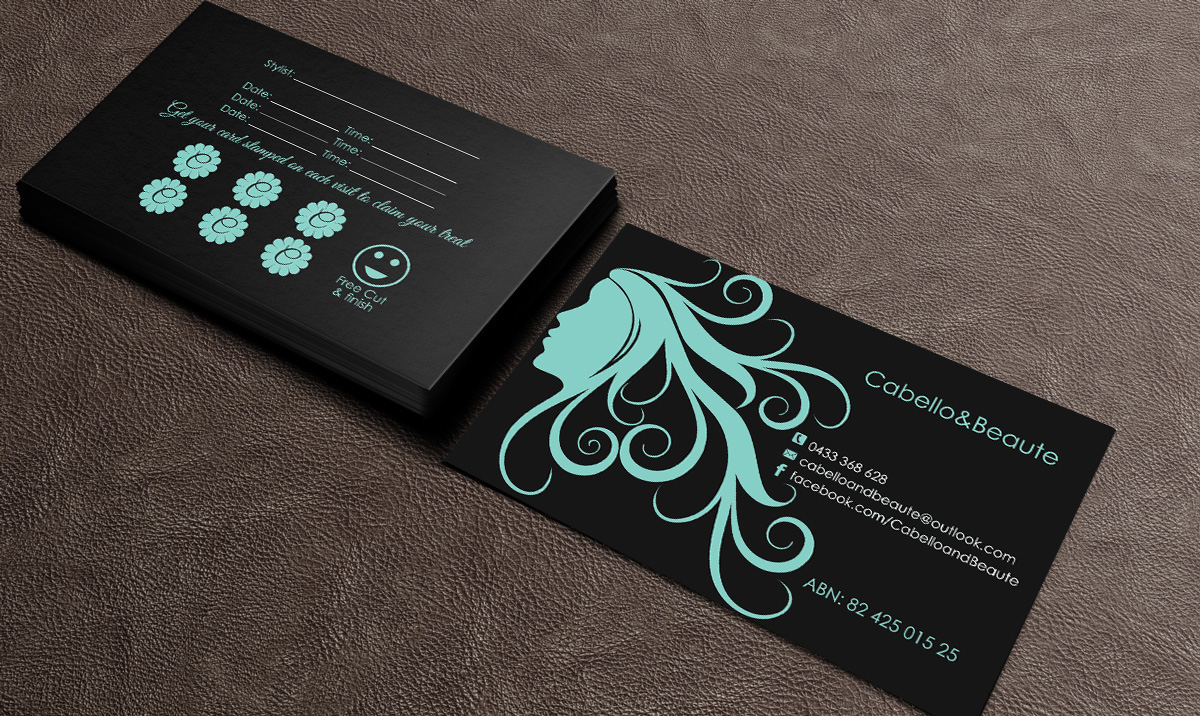 Elegant modern hair and beauty business card design for a company business card design by gtools for this project design 6798505 colourmoves Choice Image