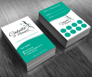 15 elegant business card designs hair and beauty business card business card design by sanrell for this project design 6689425 colourmoves Choice Image