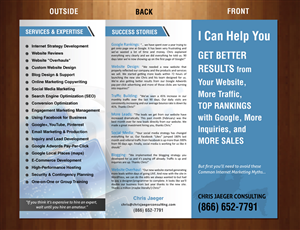 Brochure Design by smart - 9x12 Business Brochure, 3 fold, for Internet Ma...