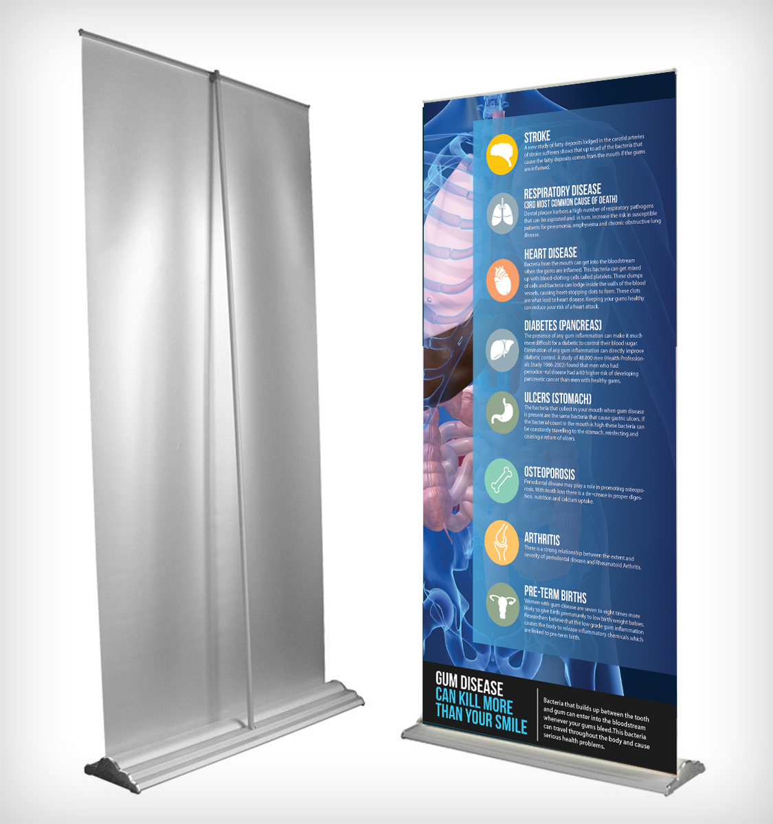 Poster design fee - Poster Design By Alessandroevge For Dental Office Needs Pop Up Banner Created Design 6695799