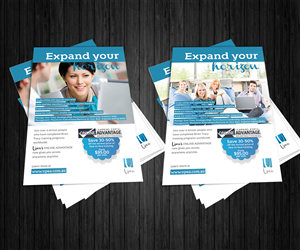 Flyer Design by de$ign - Upea ONLINE ADVANTAGE learning portal