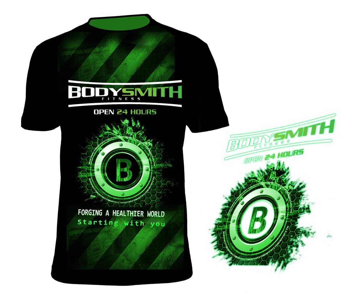 Professional Upmarket Fitness T Shirt Design For Bodysmith Fitness