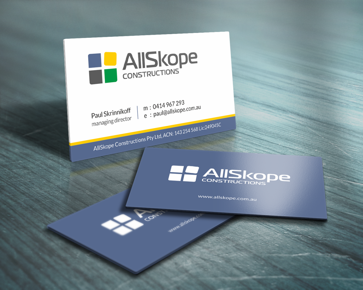 Serious professional business card design for paul skrinnikoff by business card design by hypdesign for construction company business card and logo design magicingreecefo Image collections