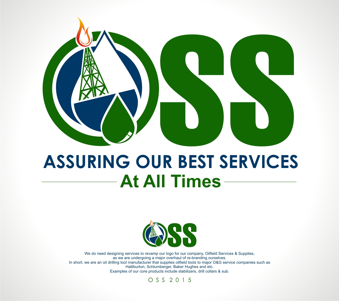 Professional traditional logo design for oilfield services logo design by esolz technologies for oss project re branding logo revamp oil spiritdancerdesigns Choice Image