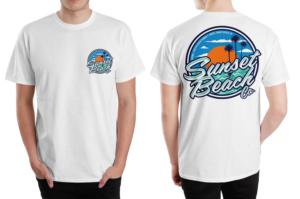 T-shirt Design by Rockalight - Ocean Themed  Sunset Beach T - Shirts