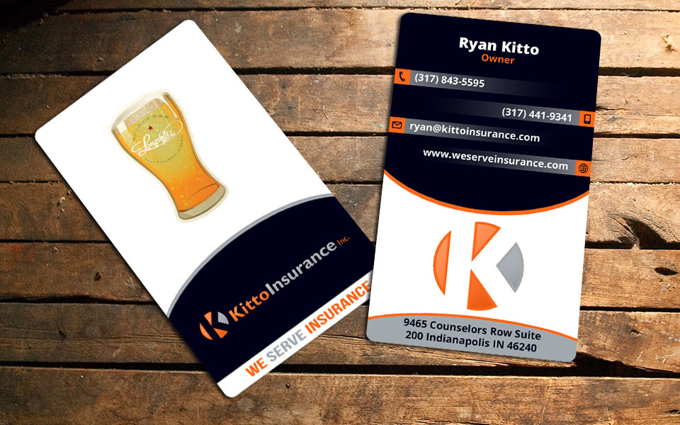 Bold playful business card design for kitto insurance inc by bold playful business card design for company in united states design 6738089 reheart Gallery