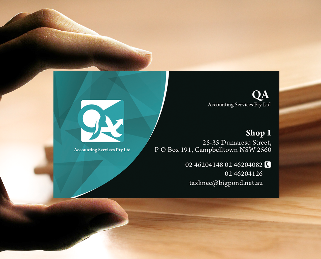 Elegant playful business card design for maryann james by business card design by photograffitic for accounting services business card design 6706569 colourmoves