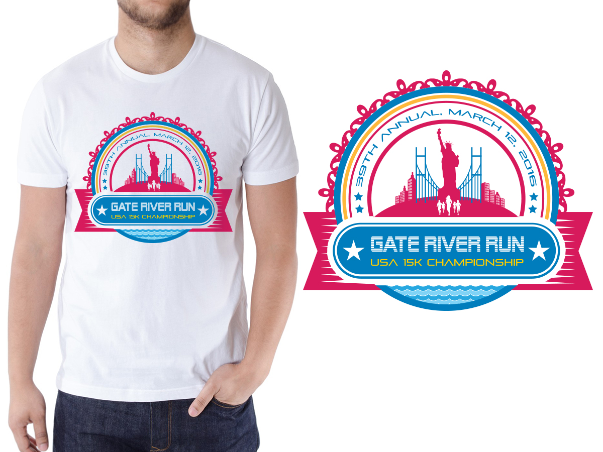 Shirt design usa - T Shirt Design By Sd Web Creation For 2016 Gate River Run T Shirt